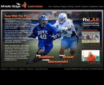 Athletic Edge Lacrosse Website Development Long Island NY