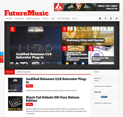 FutureMusic Website