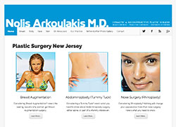 Nolis Arkoulakis MD Website Development Long Island NY
