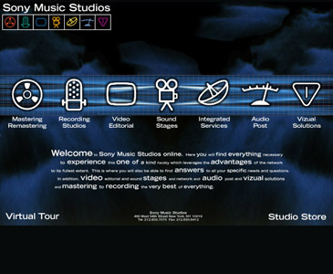 Sony Music Studios Website Development Long Island NY