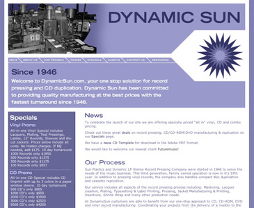 Dynamic sun Website Development Long Island NY